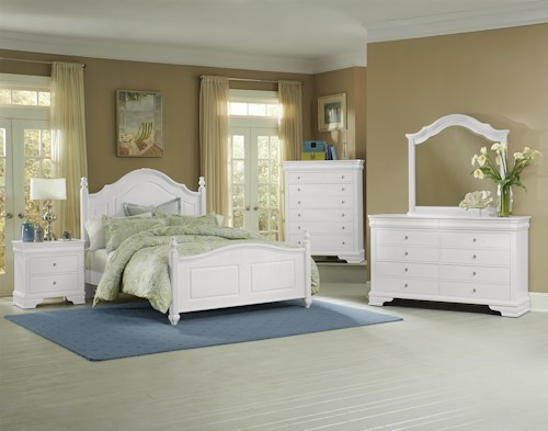 Vaughan Bassett French Market Full Bedroom Group