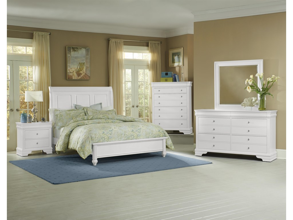 Queen Size Bed Shown. King Headboard Has 4 Panels.