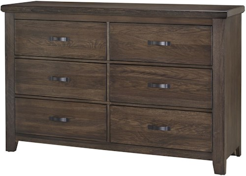 Vaughan Bassett Cassell Park Dresser with Six Self-Closing Drawers