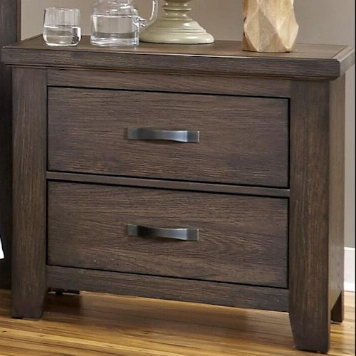 Vaughan Bassett Cassell Park Night Stand with Two Self-Closing Drawers