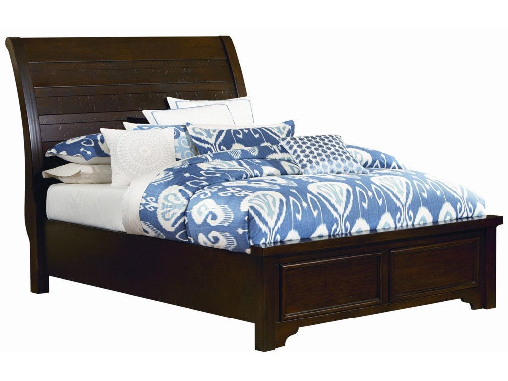 Vaughan Bassett HanoverQueen Sleigh Low Profile Bed