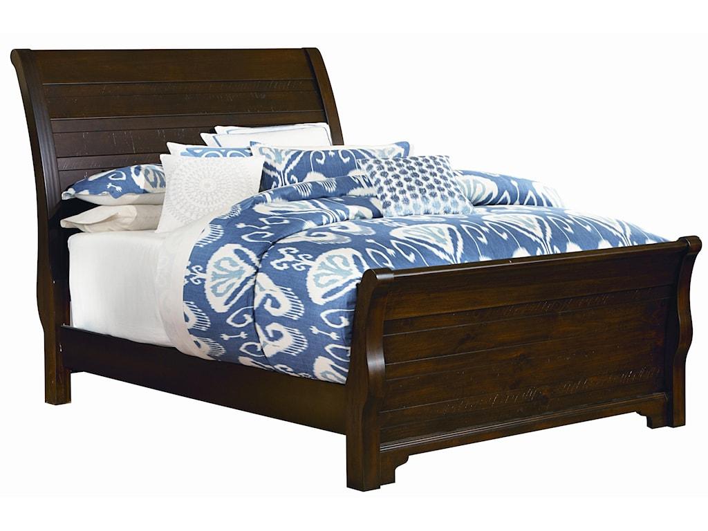 Vaughan Bassett HanoverQueen Sleigh Bed