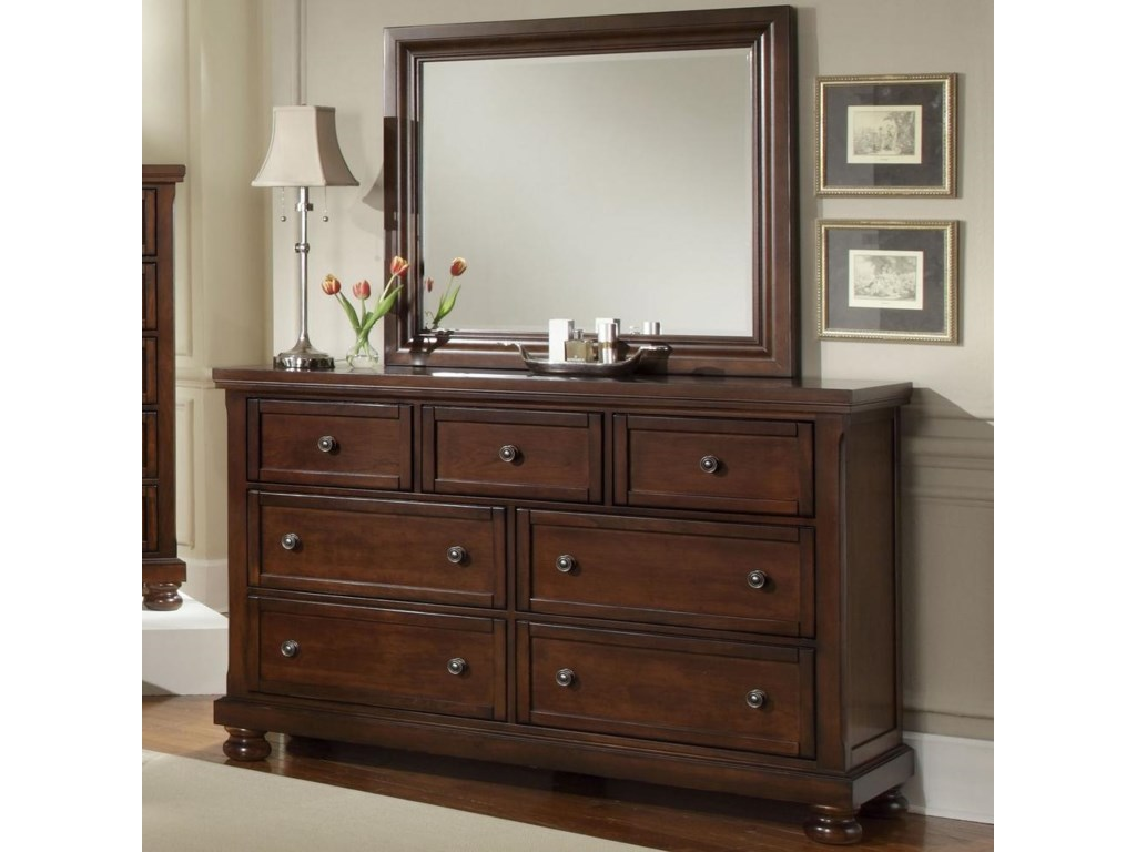 Vaughan Bassett Reflections7 Drawer Dresser and Mirror Combination