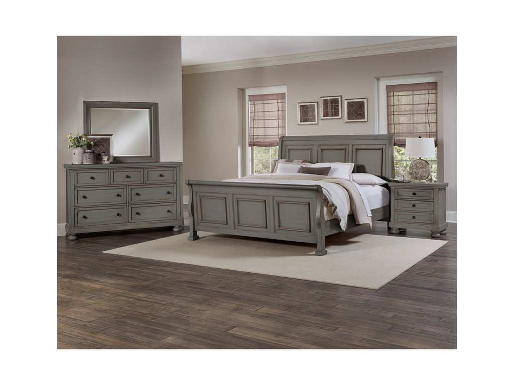 Vaughan Bassett ReflectionsKing Sleigh Bed