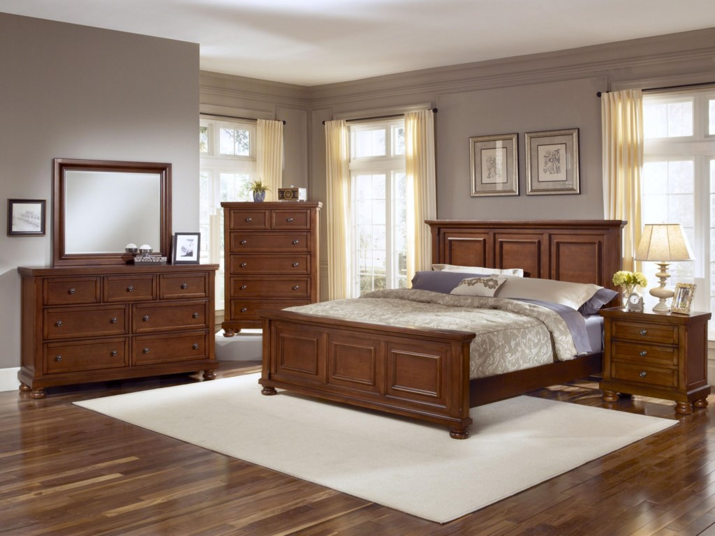Shown with Coordinating Dresser and Mirror Combination, Chest, and Panel Bed