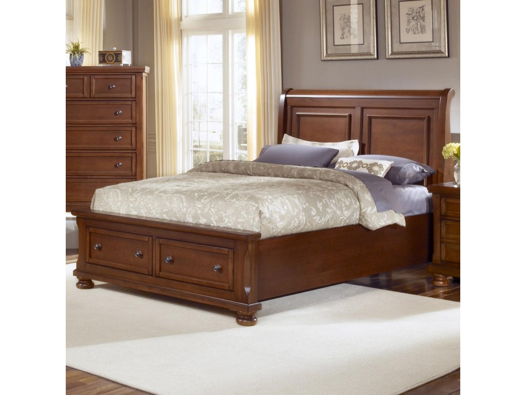 drawers bassett queen with vaughan number item b reflections products storage mansion headboard bed beds