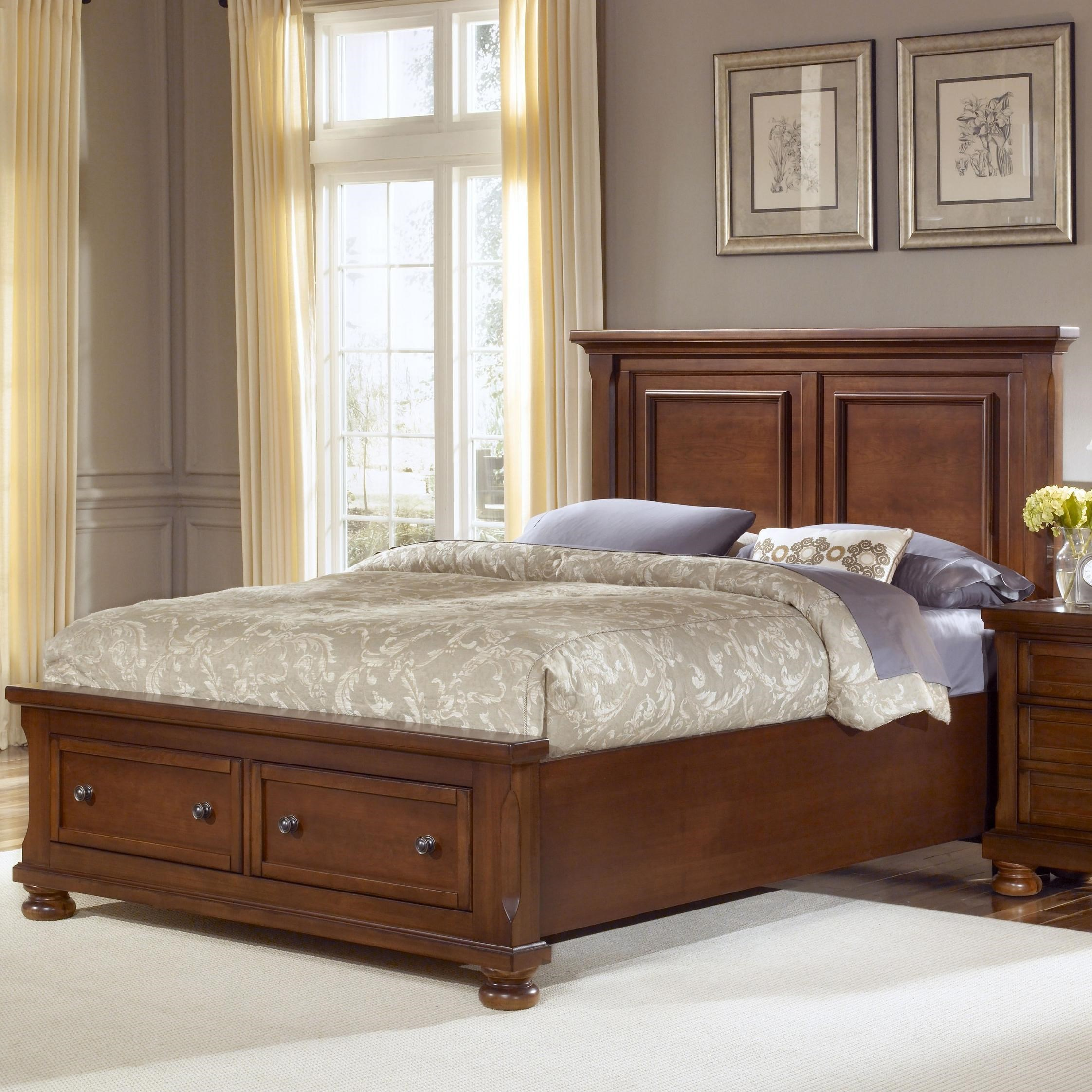 vaughan bassett reflections queen storage bed with mansion headboard rh aladdinhomestore com