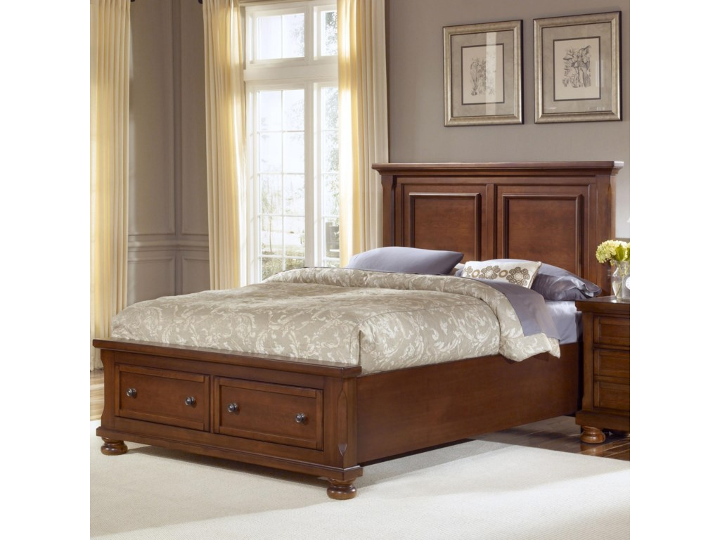 Vaughan Bett Reflectionsqueen Storage Bed With Mansion Headboard