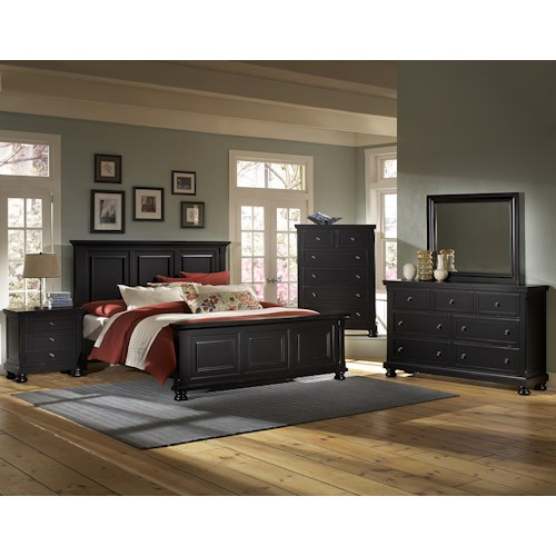 Bassett Furniture Atlanta: Vaughan Bassett Reflections King Bedroom Group