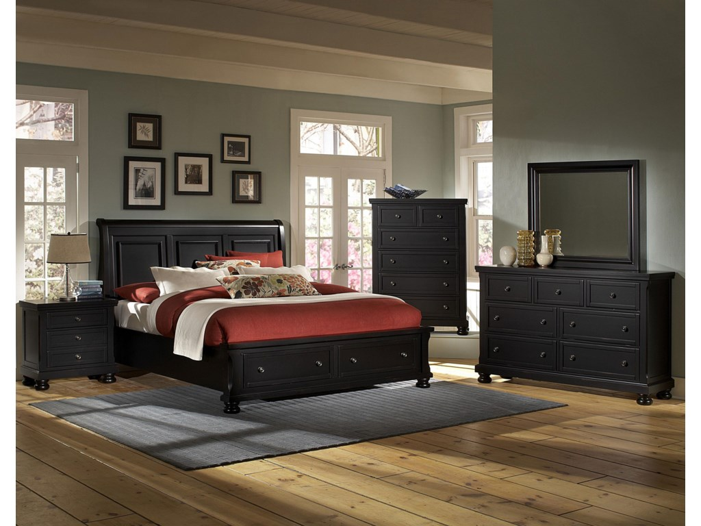 Shown with Night Stand, Sleigh Storage Bed, Chest, Dresser, and Mirror