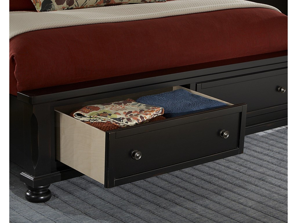 Vaughan Bassett ReflectionsKing Storage Bed with Mansion Headboard
