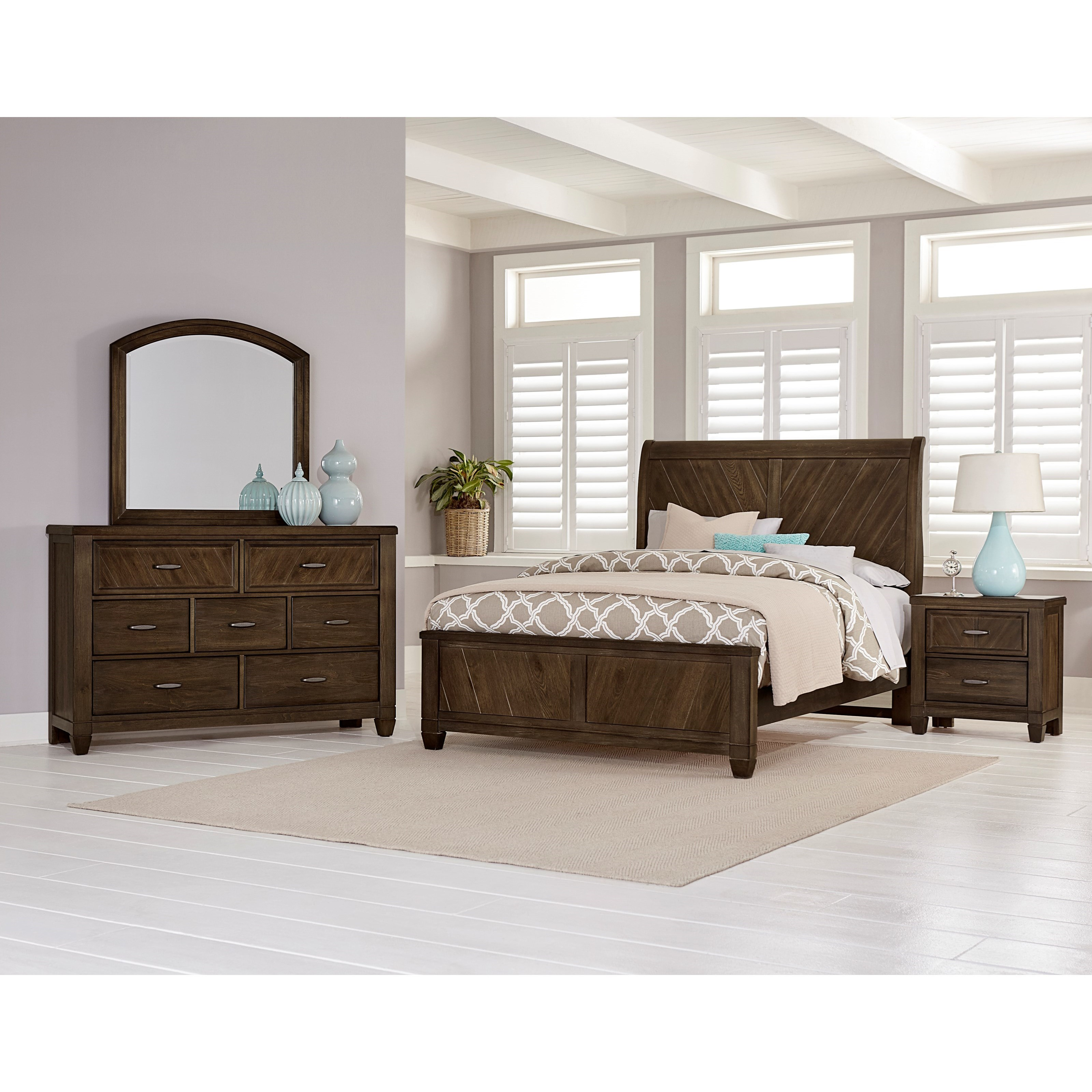 vaughan bassett rustic cottage queen bedroom group prime brothers rh primebrothers com rustic cottage style furniture rustic cottage furniture canada