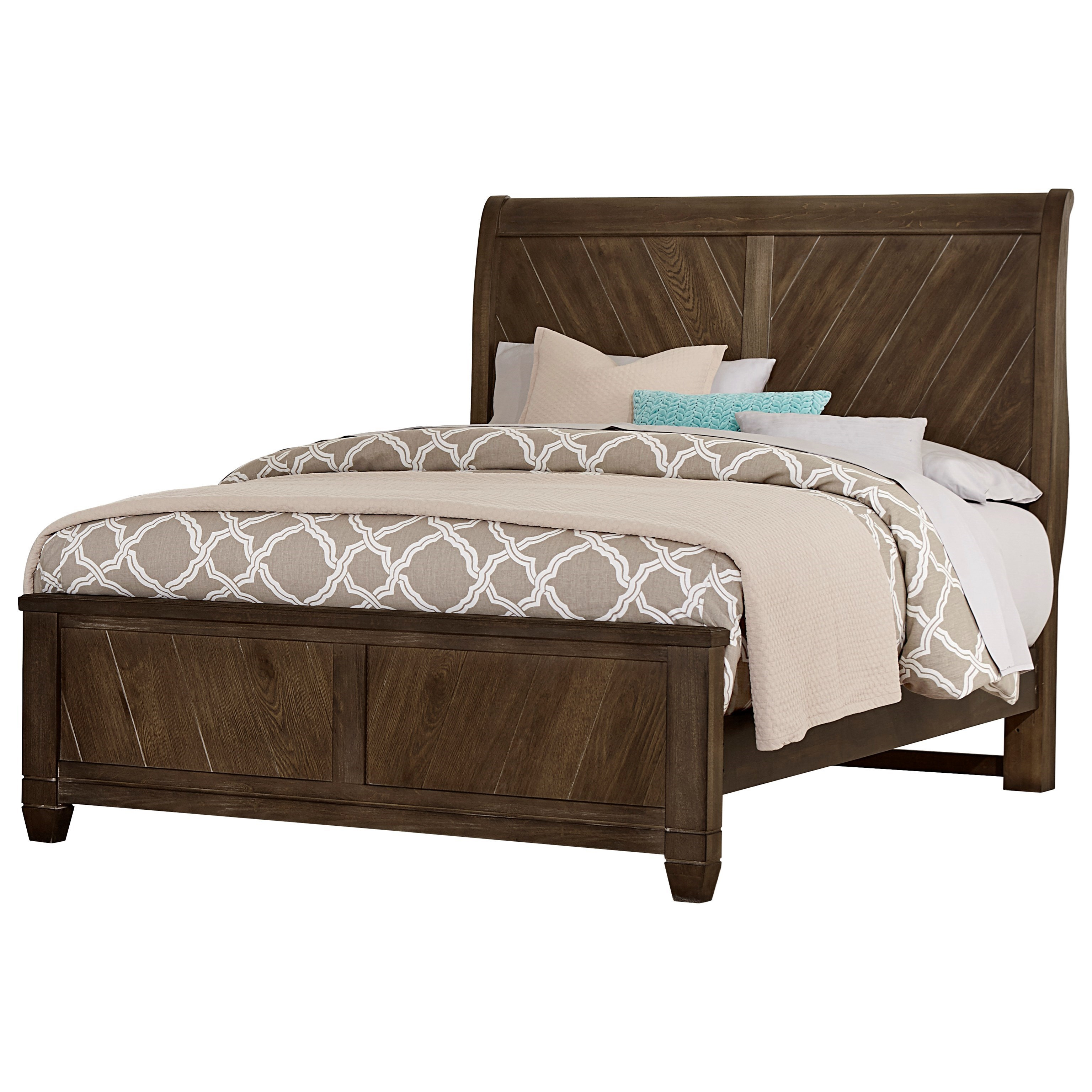 Beautiful Vaughan Bassett Rustic CottageQueen Sleigh Bed