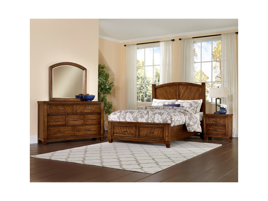 Vaughan Bassett Rustic CottageKing Bedroom Group