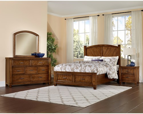 Vaughan Bassett Rustic Cottage King Bedroom Group