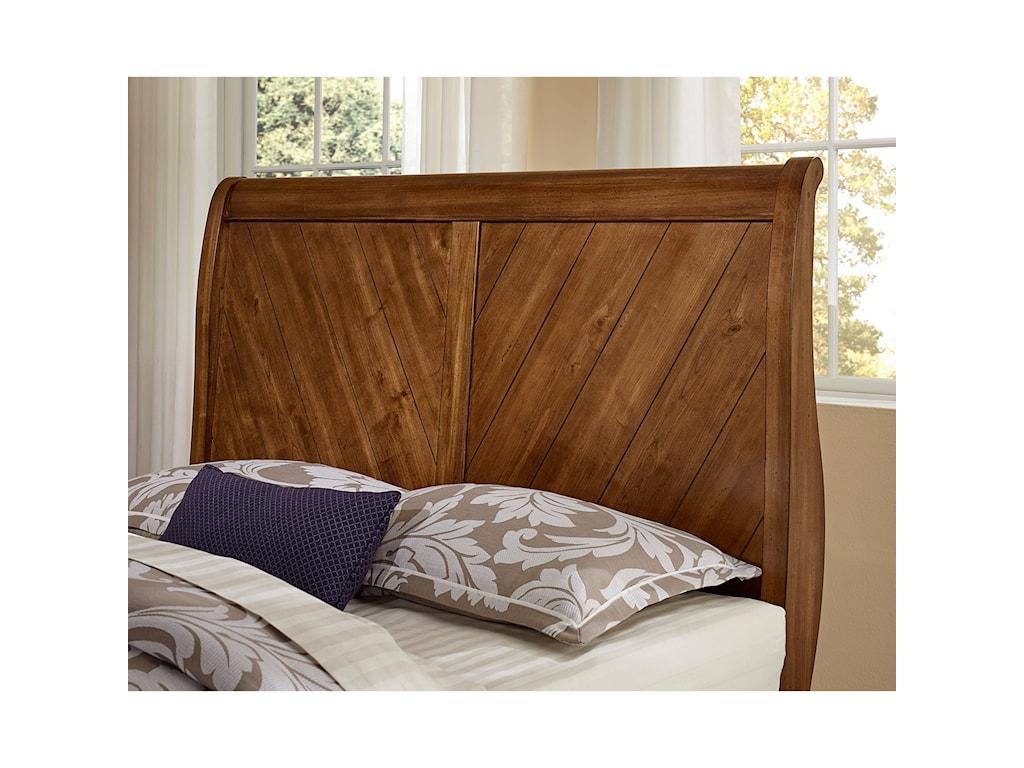 Vaughan Bassett Rustic CottageKing Sleigh Bed