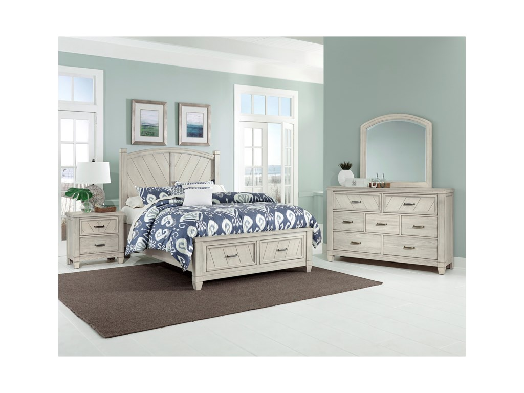 height king vaughan products american threshold vandrie trim bassett bedroom group home width cherryking cherry item