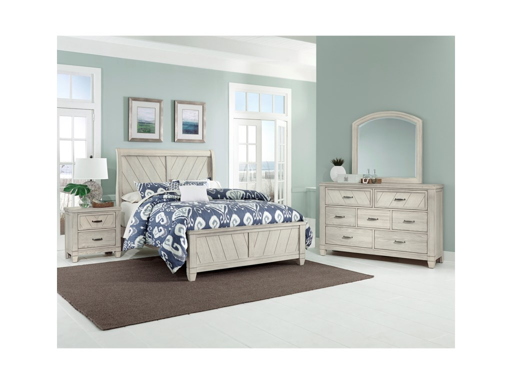 Vaughan Bassett Rustic CottageQueen Bedroom Group