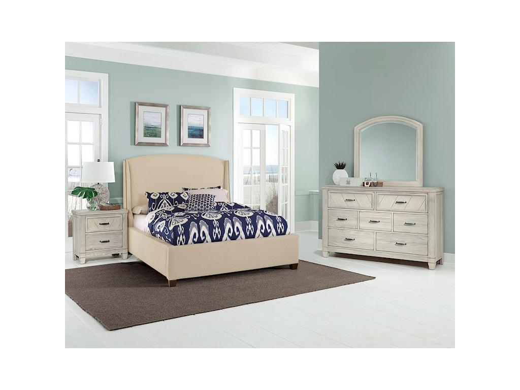 Vaughan Bassett Rustic CottageQueen Upholstered Bed