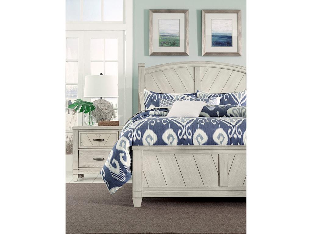 Vaughan Bassett Rustic CottageQueen Panel Bed