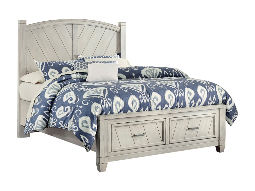 Vaughan Bassett Rustic Cottage Rustic King Platform Bed With Storage