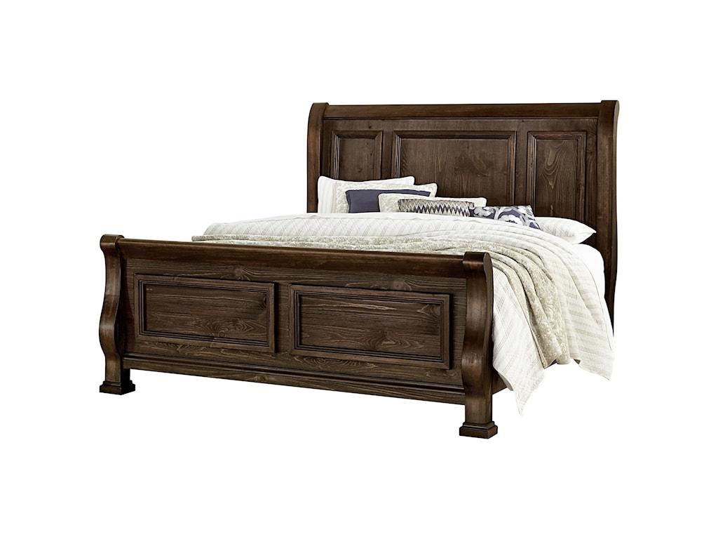 Vaughan Bassett Rustic HillsQueen Sleigh Bed