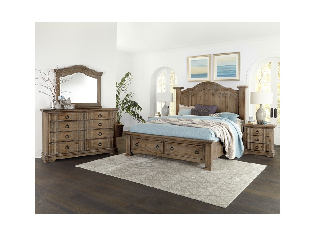 products hills width hillsking furniture rustic bedroom item great height group american threshold king bassett vaughan trim