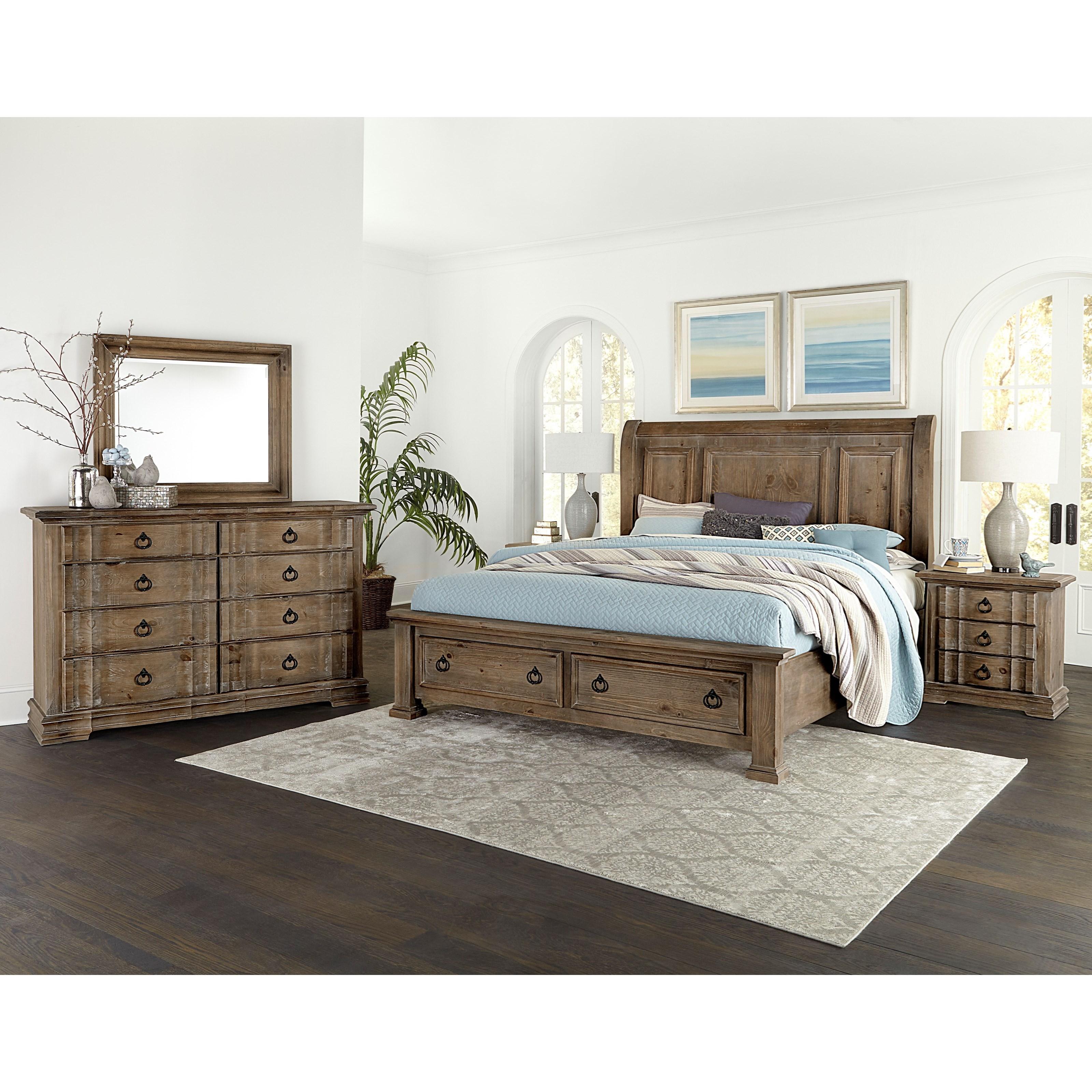 Vaughan Bassett Rustic Hills King Bedroom Group