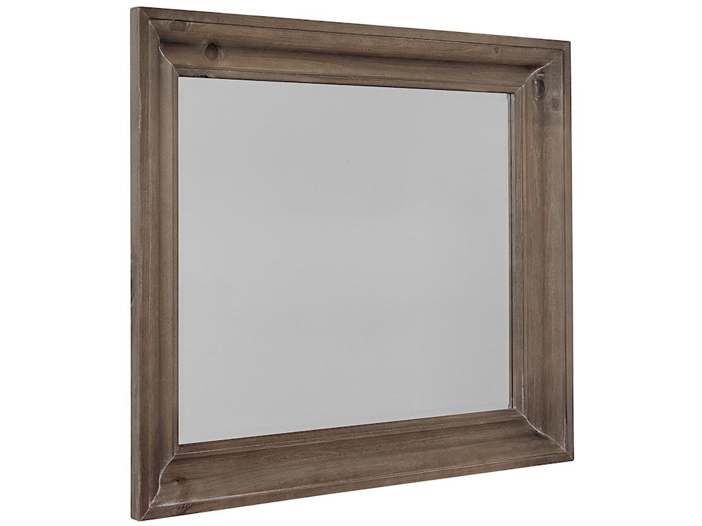 Vaughan Bassett Rustic HillsShadowbox Mirror - Beveled Glass