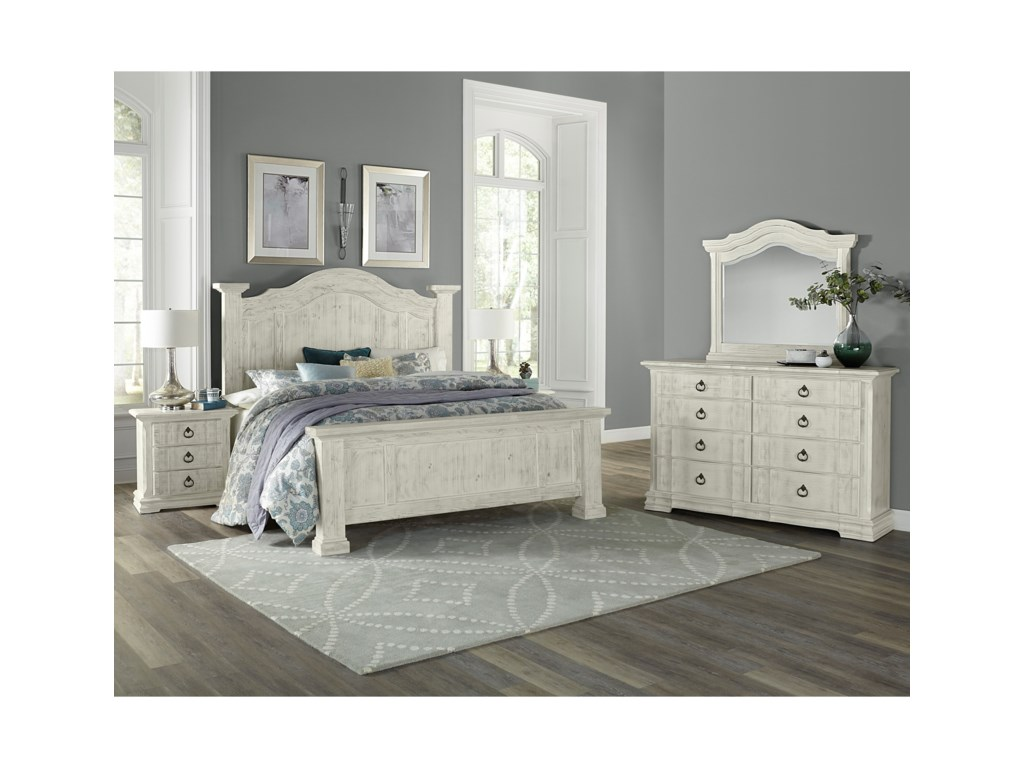 Vaughan Bassett Rustic HillsKing Bedroom Group