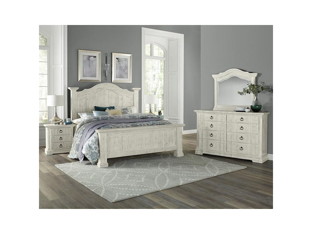 Vaughan Bassett Rustic HillsKing Bedroom Group
