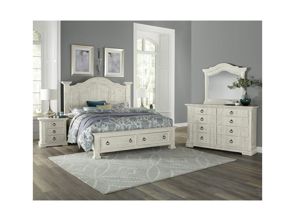 Vaughan Bassett Rustic HillsQueen Bedroom Group