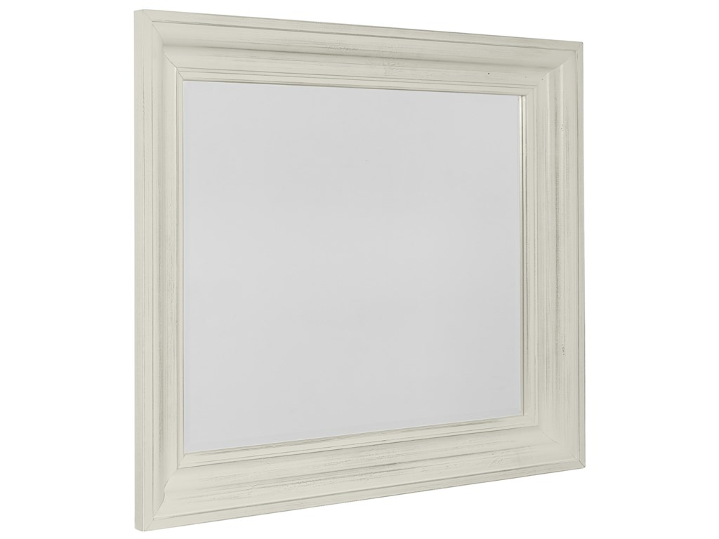 Vaughan Bassett Rustic HillsShadowbox Mirror - Beveled Glass