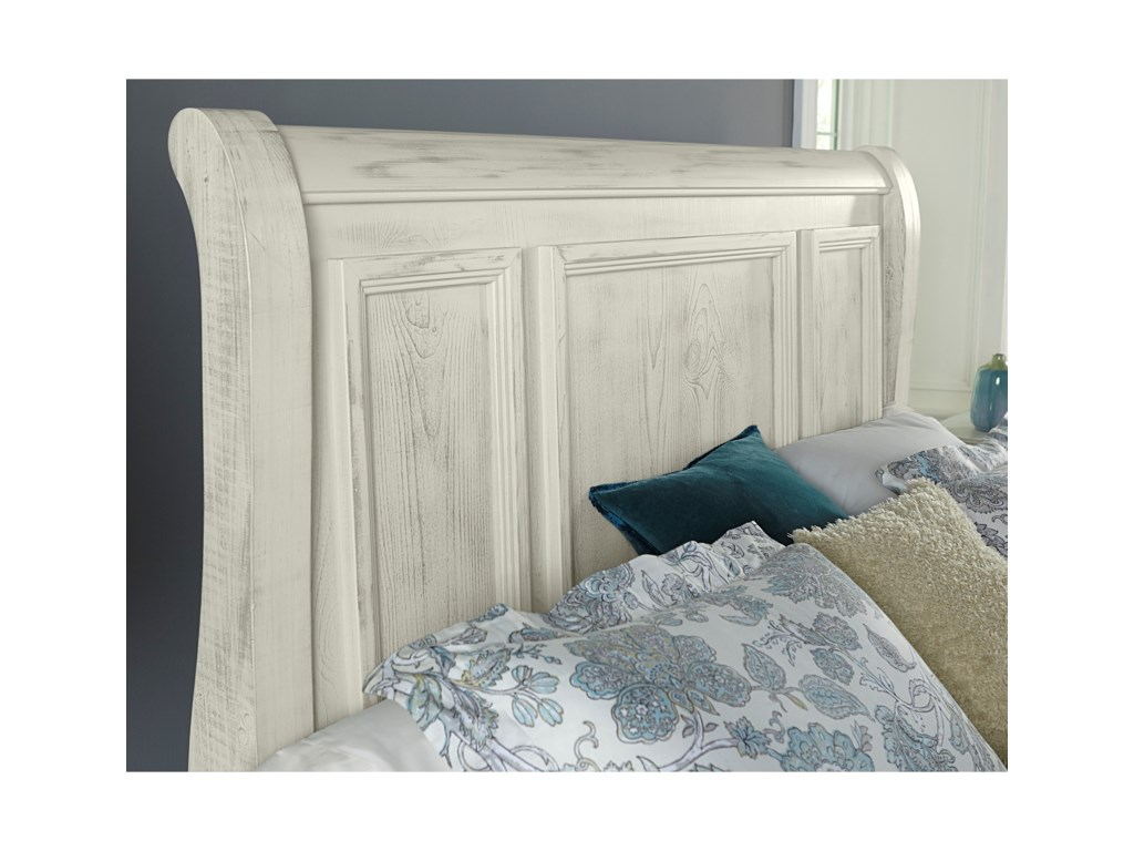 Vaughan Bassett Rustic HillsQueen Sleigh Bed with Storage Footboard