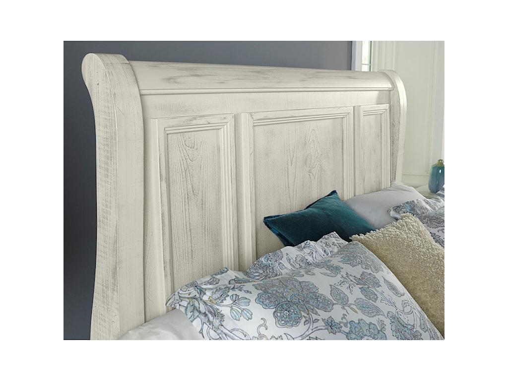 Vaughan Bassett Rustic HillsQueen Sleigh Bed with Storage Footboard