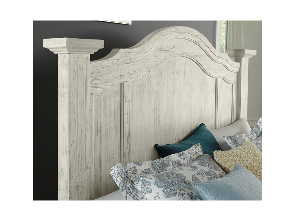 Vaughan Bassett Rustic HillsQueen Poster Bed with Storage Footboard