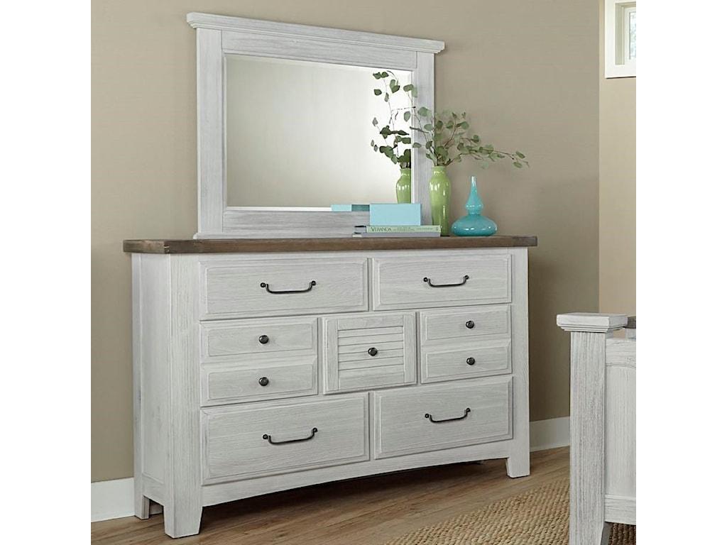 Vaughan Bassett SawmillDresser & Mirror Set