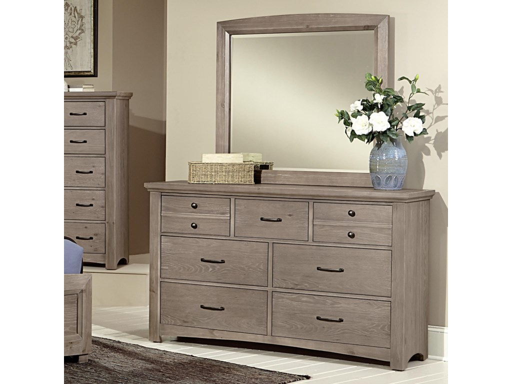Vaughan Bassett TransitionsDresser & Landscape Mirror