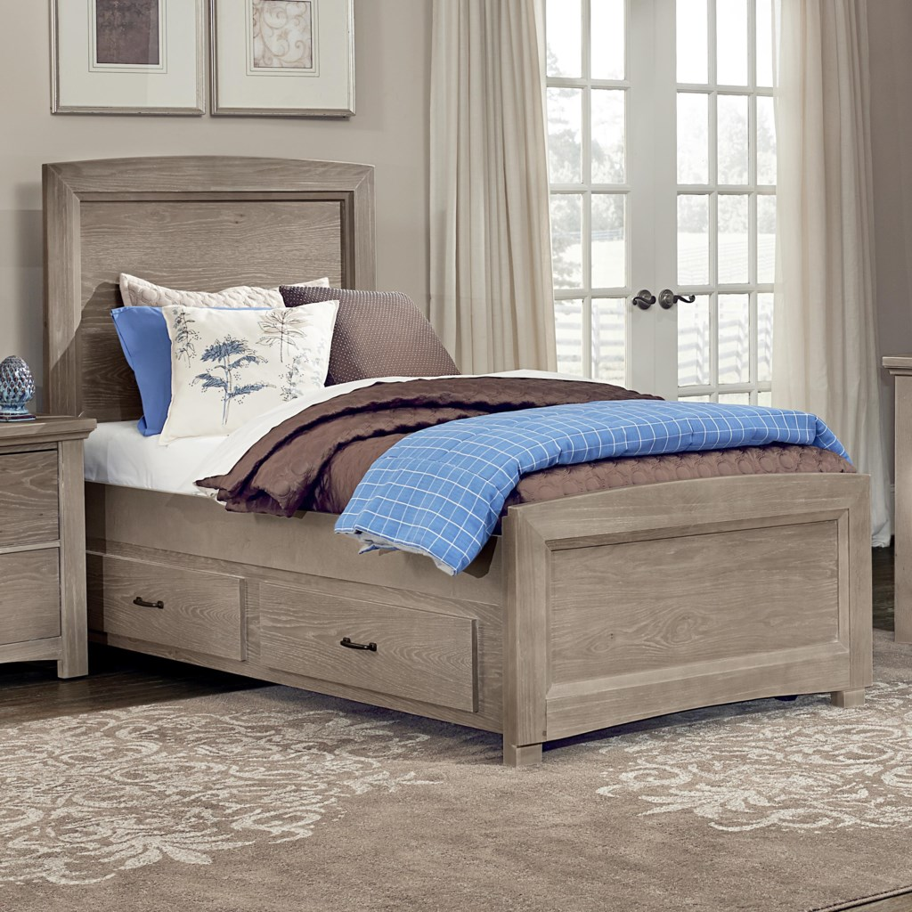 Vaughan Bassett Transitions Twin Panel Bed with Trundle | Hudson's