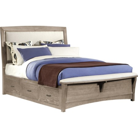 Queen Uph Bed with 2 Side Storage Units