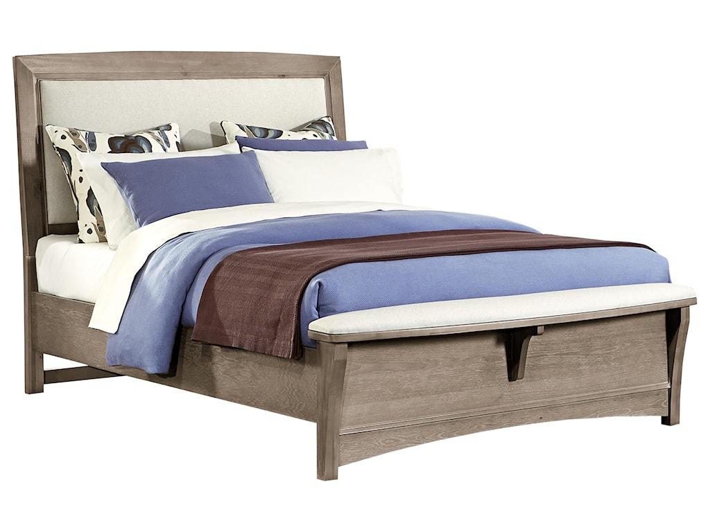Vaughan Bassett TransitionsQueen Upholstered Bed, Base Cloth Linen