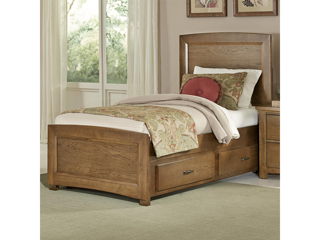 Vaughan Bassett TransitionsTwin Panel Bed with Trundle