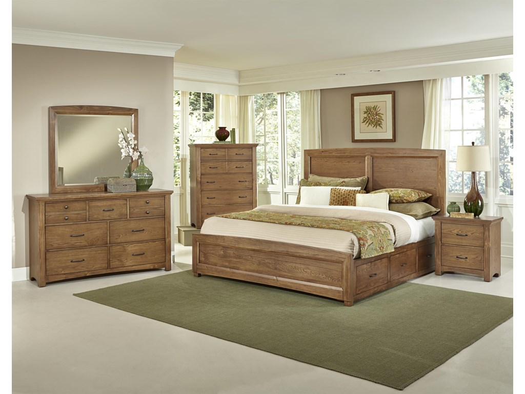 Vaughan Bassett TransitionsKing Panel Bed with 2 Side Storage Units