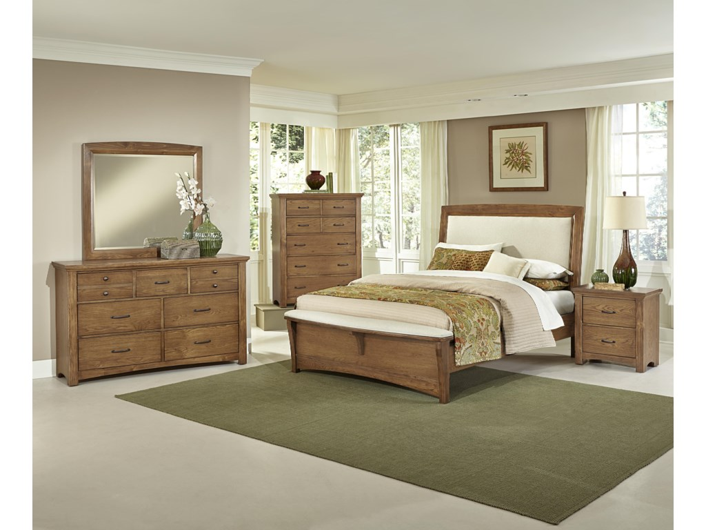 Vaughan Bassett TransitionsQueen Upholstered Bed with 1 Side Storage