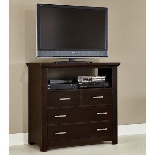Vaughan Bassett Transitions Casual Contemporary Media Chest - 4 drawers
