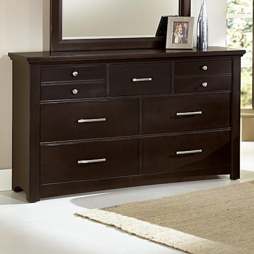 Vaughan Bassett Transitions Casual Contemporary Dresser - 7 drawers