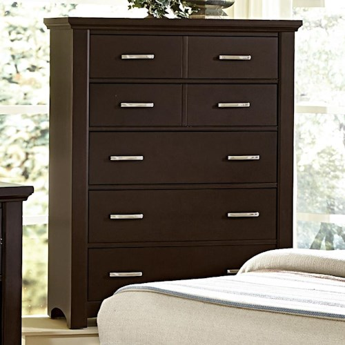 Vaughan Bassett Transitions Casual Contemporary Chest - 5 drawers