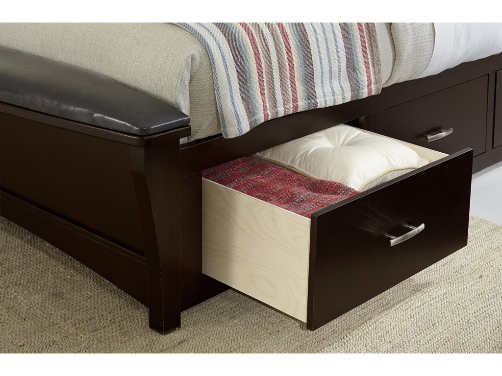 Vaughan Bassett TransitionsKing Uph Bed with 2 Side Storage Units
