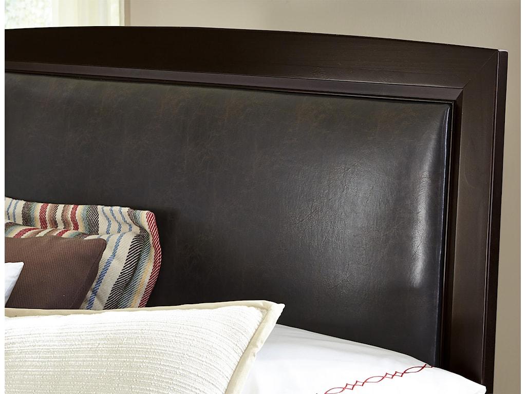 Vaughan Bassett TransitionsKing Upholstered Bed, Bonded Leather