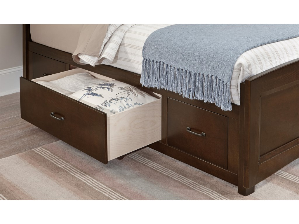 Vaughan Bassett TransitionsTwin Panel Bed with Underbed Storage